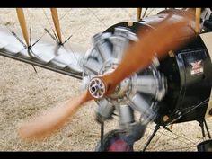 9 CYLINDER BENTLEY ROTARY ENGINE AVRO 504K - LMA RC MODEL AIRCRAFT SHOW - RAF COSFORD - 2013 - YouTube