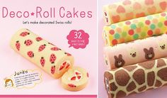 patterned swiss rolls by Junko, swiss roll art, deco roll cakes