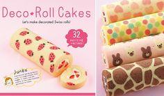 patterned swiss rolls by Junko, swiss roll art, deco roll cakes