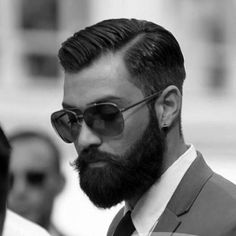 dapper haircut, dapper haircuts for men, men hairstyles names Great Beards, Awesome Beards, Hairy Men, Bearded Men, Dapper Haircut, Hard Part Haircut, Sexy Bart, Creative Haircuts, Hair And Beard Styles