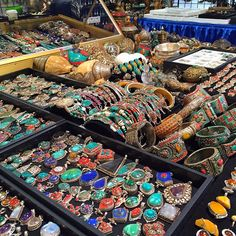 Tucson, Arizona's GEM, MINERAL & FOSSIL SHOW | Jan. 30 through Feb. 14, 2016 | For two weeks Tucson becomes playground number one for the world of international gem and mineral trading, buying, bargains and bragging rights. | Click on the pin for more info and additional Tucson, Arizona events | Photo via Instagram by @sunstonesbeads