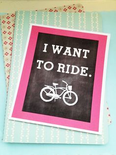 I love this cute and free bike printable for Brett Crafts To Do, Paper Crafts, Diy Crafts, Decor Crafts, Bicycle Wedding, Diy Sewing Projects, Party Activities, Applique Patterns, Sewing A Button