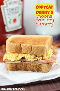 This sandwich is F-A-B-U-L-O-U-S. I have made it several times and I can't get enough. I haven't been to Denny's for years, but back ...