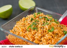 Rychlá mexická rýže recept - TopRecepty.cz Fried Rice, Fries, Ethnic Recipes, Food, Diet, Essen, Meals, Nasi Goreng, Yemek