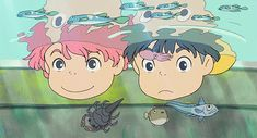 Tumblr WTF Manga | mine anime Ponyo studio ghibli ponyo on the cliff by the sea they are ...