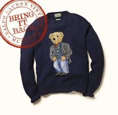 We are pleased to announce our first Bring It Back: The Polo Bear Sweater Introducing the Bring It Back program—a specially curated list of iconic products from our past collections from which you can help choose the ones we bring back into production.