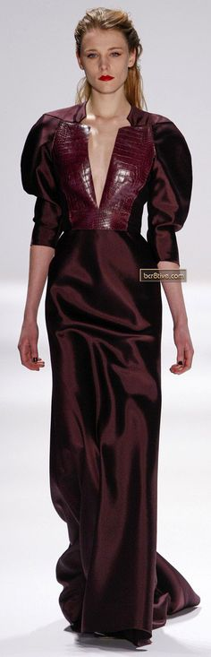 Carmen Marc Valvo Fall Winter carmen marc valvo Admin See author's posts Related Carmen Marc Valvo, Beautiful Gowns, Beautiful Outfits, Runway Fashion, High Fashion, Burgundy Fashion, Vogue, Satin Dresses, The Dress