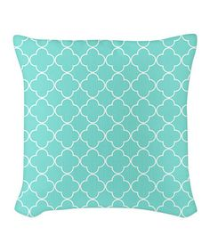 Look what I found on #zulily! Aqua Quatrefoil Burlap Pillow #zulilyfinds