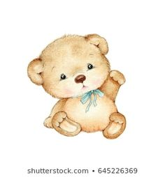 Imagens, fotos stock e vetores similares de Cute Teddy bear and butterfly - 342874082 Teddy Bear Drawing, Cute Bear Drawings, Baby Animal Drawings, Baby Teddy Bear, Teddy Bear Baby Shower, Cute Teddy Bears, Teddy Bear Cartoon, Baby Animals, Cute Animals
