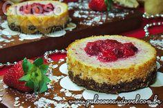 Cheesecake de Ricota com Morango » Receitas Saudáveis, Tortas e Bolos » Guloso e Saudável