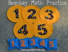 math game... I am thinking not as complicated as sewing all of that... Some paper plates and a few zip lock bean bags would work!   I just need something short time to work for the summer