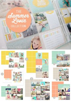 Summer themed 3x4 and 4x6 journaling/filler cards + digital templates for scrapbooking. #projectlife #memorykeeping