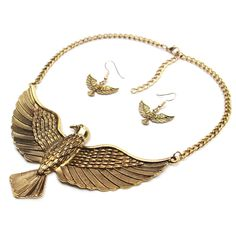 Vintage Metal Eagle Pendant Necklace 2016 Women Exaggerated Trendy Statement Maxi Necklace Bijoux Collier Femme Animal Jewelry