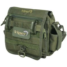 b944ab6ad39a Viper Special Ops MOLLE Pouch Military Shoulder Bag Cadet Carry Pack Olive  Green