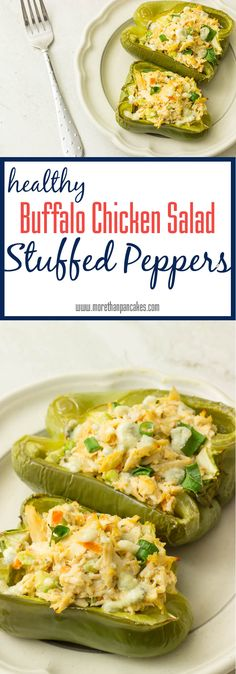 Buffalo Chicken Salad Stuffed Peppers