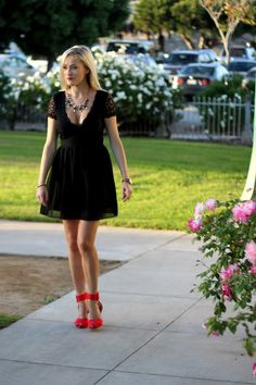Holiday Party LBD | Red Shoes | She Said He Said Fashion Blogger