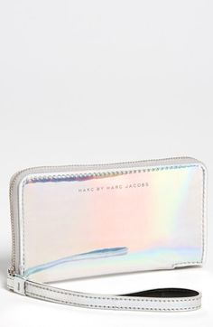 MARC BY MARC JACOBS 'Techno - Wingman' iPhone Wristlet in Light Holographic