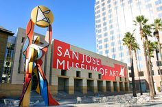San Jose museum of arts- the plaza - The Circle of Palms, location of the lst state capital of California...