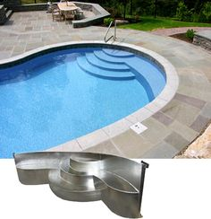 Steel Steps for in-ground pool