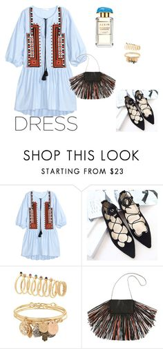 """.."" by create-494 ❤ liked on Polyvore featuring H&M, Barbara Bonner, AERIN and springdress"