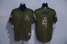 mens oakland athletics 4 coco crisp green salute to service cool base stitched mlb jersey