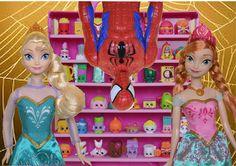Elsa Vs Spiderman   Shopkins New Collection Disney Frozen Toddlers Anna ...