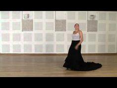 Técnica avanzada de bata de cola flamenca: Vuelta quebrada por detrás - YouTube