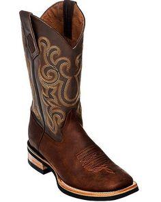 Ferrini® Men's Maverick Brown Square Toe Boots
