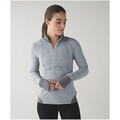 lululemon Runderful 1/2 Zip ($98) ❤ liked on Polyvore featuring activewear, activewear tops and lululemon