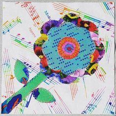 Block No 32. Constant Needle by Laurie Simpson @minickandsimpson #thesplendidsampler #splendidsampler #fabriclove #quilt #quilting #quiltblock #applique