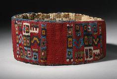 Headband, 600-850 Peru, South Coast, Wari culture Camelid fiber and cotton…
