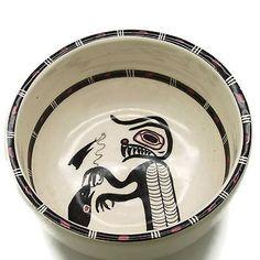 David-Lambert-Potteries-Wolf-Sculpture-Bowl-Vancouver-BC-Haida-Tribe-5-1-2-034