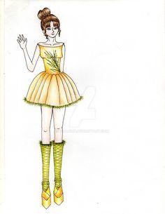 Orange green Short dress by fitanina.deviantart.com on @DeviantArt