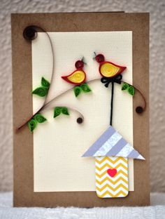 Quilled birds Paper Quilling Handmade Quilled by PaperSimplicity, $8.50
