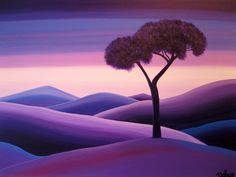 Purple landscape by BrigitteDehue.deviantart.com