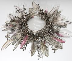 """Center stage with Susan Lenart Kazmer's """"Opera Singer"""", a mixed media resin and metal jewelry holder : Ice Queen E-Zine Funky Jewelry, Resin Jewelry, Jewelry Art, Jewelry Design, Charm Jewelry, Boho Jewelry, Jewelry Ideas, Vintage Jewelry, Artisan Jewelry"""