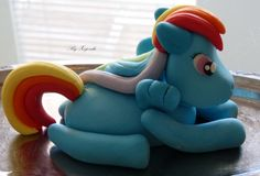 My little pony rainbow dash fondant figure!