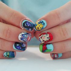 """"""". Little Mermaid Nails These were inspired by @jessnailed_it. She is so good at nails! I hope you like them #inaileditjess"""" Photo taken by @iliketopaintmynails on Instagram, pinned via the InstaPin iOS App! http://www.instapinapp.com (03/01/2015)"""