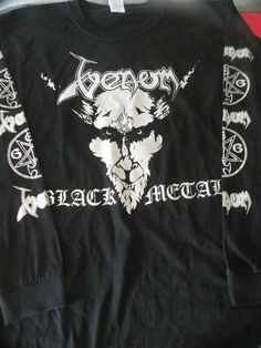 Classic Venom Black Metal  longsleeve shirt -  S to XL available- .  Bathory,HellhammerCeltic Frost,Burzum