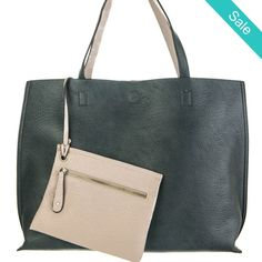 Jane reversible tote -  Clean, crisp leather reversible tote for the no-nonsense…