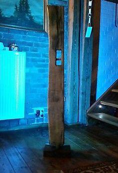 Stehlampe Leuchte Alt Eichenbalken XL LED Lampe Design Holzbalken Wohnung