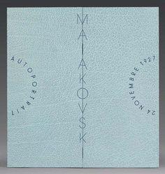 MAÏAKOVSKI (Vladimir) Autoportrait. Moscou, 24 novembre 1927. Composition originale signée, au pinceau: 22,5 x 14 cm. L'ensemble est présenté dans une ingénieuse boîte à système de maroquin bleu par Renaud Vernier.