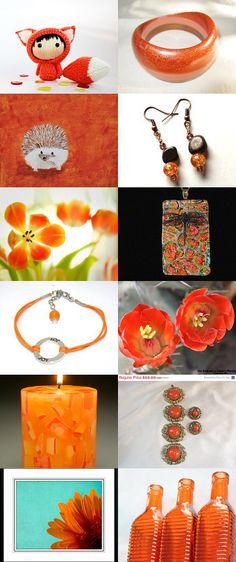 Orange Joy by Carla on Etsy--Pinned with TreasuryPin.com