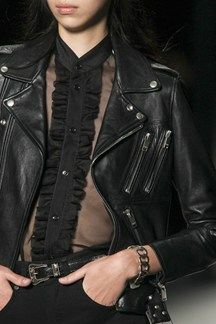 2- fashion interpretation Saint Laurent Spring 2014