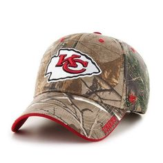85add81b1 NFL Kansas City Chiefs  47 Brand MVP Camo Realtree Frost Adjustable Hat Cap   47Brand