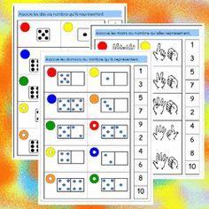 Des jeux mathématiques en autonomie pour mes GS Math Gs, French Kids, File Folder Games, Math Numbers, Teaching French, Math Classroom, Learn French, Math Activities, School Bags