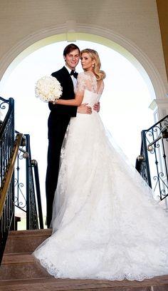 Ivanka Trump in the most dreamy Vera Wang wedding dress.