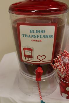 Hospital Themed Birthday party, blood punch #doctorparty #nurse