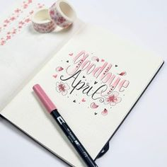 Goodbye April! - - - - #bujo2018 #bujo #bulletjournal #journal #bujoinspo #bujolove #bujojourney #leuchtturm1917 #leuchtturm1917bulletjournal #diary #stationery #planning #planner #cover #april #pink #prettyinpink #cherryblossoms #blossoms #tombow #tombows #tombowusa #watercolor #sakura