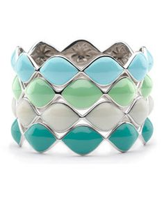 Elizabeth Showers: perfect stackables for spring/summer! mix to your heart's desire
